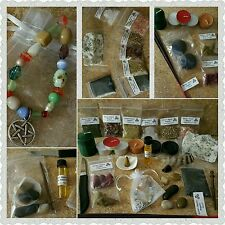 HUGE 36 piece Intro Wicca kit herbs, knife, oil, incenses, spells, candles, soap
