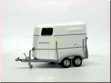Böckmann Pferdeanhänger horse trailer 2006 weiß white Minichamps 400905120 1:43