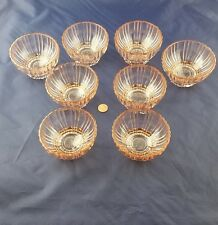 Pink depression  glass set of 8 fruit bowls