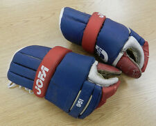 Vintage JOFA 951 pro hockey gloves Montreal Canadiens pattern