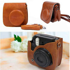 Brown Camera Case Shoulder Bag Cover For Polaroid Fuji Fujifilm Instax Mini 8