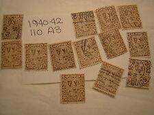 Ireland Stamp 1940 1942 Scott 110 A3 Definitive 2 1/2 Brown Set of 12