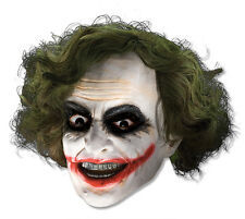 Perruque robe fantaisie / masque ~ Deluxe Dark Knight Joker masque