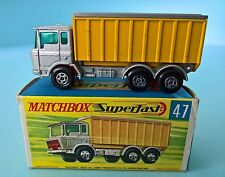 1968 - MATCHBOX SUPERFAST No 47c - DAF Tipper Container Truck - Mint in Box
