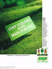PUBLICITE ADVERTISING 065  1987  SEM   engrais FLORANID