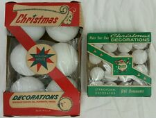 "VINTAGE IN PACKAGE HOLIDAY HOUSE DELTA 2.5"" & 1.25"" STYROFOAM BALLS NEVER USED"