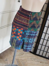 JUPE VELOURS RAS DESIGUAL TAILLE 34 Y6773