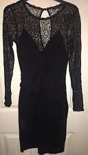 FRENCH CONNECTION Black Lace Dress SIZE UK10 US6