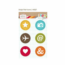 Snap Studio Flair Icons Adhesive Badges 6 pieces   BO