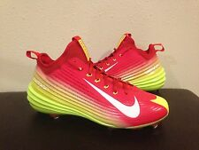 Nike Lunar Vapor Trout Metal Baseball Cleats Red Volt 654853 617 Men's Size 12