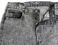 vtg Levi's 501 GRAY-BLACK ACID WASH JEANS 32W 31L denim 90s usa Button Fly 1990