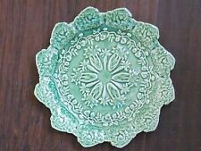 BORDALLO~GREEN  BUNNY RABBIT~SET OF 2 ACCENT PLATES~NEW~