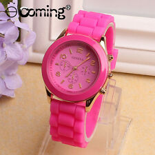 Silicone Geneva Watch Relogio Feminino Fad Women Casual Luxury Wristwatches HOT