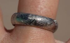 Electroplated Meteorite Jewelry Muoinonalusta Meteorite ring band ring