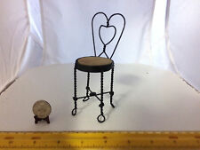 1/6 SCALE MINIATURE VINTAGE SWEETHEART BAR CHAIR/STOOL VERY WELL MADE WOOD/METAL