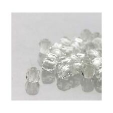 Czech True2 2mm Firepolish Glass Beads C8133  (600) Crystal Clear Round Faceted
