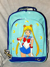 "NEW WITH TAGS BLUE SAILOR MOON  BAG TRAVEL BACKPACK  14"" X 11"" X 5"" #2"