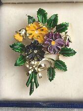 Hermosa Vintage exquisito Broche De Cumpleaños Flor Pequeña pensamiento puede