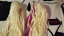 Headrazor white blonde/ pink dreads extensions claws cyber gothic industrial