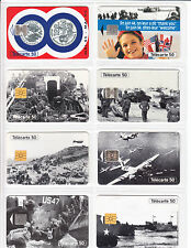 8 TELECARTE / PHONE CARD .. FRANCE 50U PACK ARMEE D-DAY DEBARQUEMENT 1944  C.24€