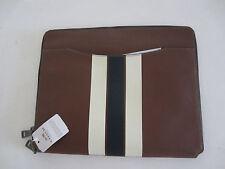 COACH TECH CASE STRIPE LEATHER SADDLE Folding Folio Case  F66312 $150