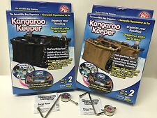 Kangaroo Keeper 6 Psc Kit - 4 bags, 2 purse hook - Black Tan