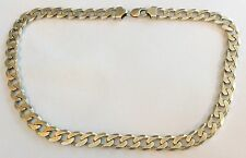 Massive Very Heavy Gents Hallmarked Vintage Solid Silver Neck Chain - 127 Grams