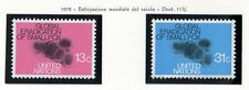 19143) UNITED NATIONS (New York) 1978 MNH** Smallpox – Vaiolo 2v