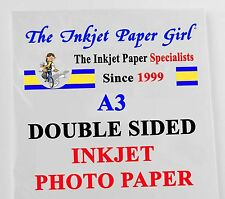 A3 155g Double Sided Gloss/Gloss Photo Inkjet Paper 100 sheets