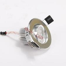 Dimmable w Driver Mini 3W LED Ceiling Recessed lamp Down Light Hole 55mm 6000k