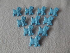 10 x BLUE DOG (Poodle) BUTTONS ~ Size 18mm x 20mm CHILDREN/CRAFT