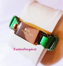 *BRAND NEW* COACH Leather Horse and Carriage ID Bracelet - GREEN  90590