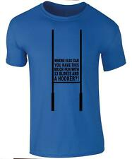 """Mens T-shirt - """"Fun with 13 Blokes and a Hooker """" - Rugby funny T-shirt - Tee"""