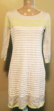 NWT Womens DESIGN HISTORY Stripe Dress 3/4 Sleeve Size Small