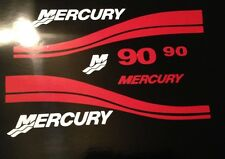 Mercury Outboard decals Marine Vinyl set Red   40- 50 - 60- 75 or 90 HP