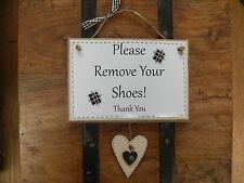 Si prega di rimuovere le Scarpe, togliti le scarpe in legno Nuova Casa Placca Firmare