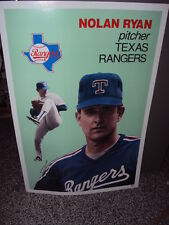 "RARE NOLAN RYAN Large Baseball Card Poster - Issued 1990 measures 24"" x 36"""