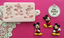 Three Mickey Mouse silicone mold fondant cake decorating APPROVED FOR FOOD