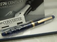 Japanese FP PLATINUM #3776 CENTURY CHARTRES BLUE 14K EF-nib with Converter
