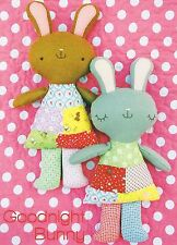 Goodnight Bunny - Sewing Craft PATTERN - Soft Toy Felt Rag Doll Bear