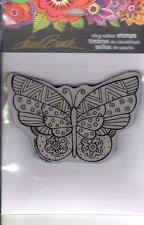 New Stampendous RUBBER STAMP LAUREL BURCH FLUTTERBYE BUTTERFLY FREE US SHIP