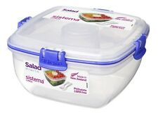 SISTEMA CLEAR KLIP IT TO GO RANGE LUNCH BOX CONTAINER STORAGE PLASTIC TRAVEL