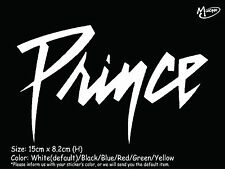 Prince vinyl Car sticker decal memorial RIP Reflective Decal Best Gift.