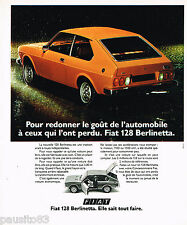PUBLICITE ADVERTISING 065  1975  FIAT 128  BERLINETTA