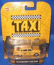 MATTEL HOT WHEELS HOLLYWOOD MOVIE & TV SHOWS COLLECTIBLES CHECKER TAXI CAB, NEW