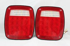 76-06 WRANGLER CJ YJ TJ LED TAIL LIGHTS JEEP TRAILER RUBICON OFF ROAD