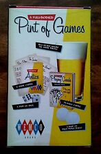 Wemco Adult Pint Of Games 16 oz Clear Drinking Glass Card Beer Pong Dice