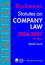 Blackstone's Statutes on Company Law 2006-2007 (Blackstone's Statute Series), De