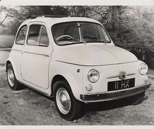 FIAT 500 WITH SUN ROOF PERIOD PHOTOGRAPH.