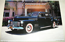 1941 Cadillac 4 dr sedan car print (black)